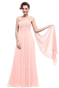 Empire One Shoulder Floor-length Chiffon Bridesmaids Dress