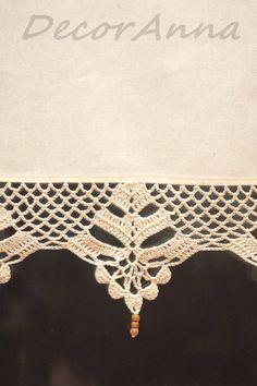 DecorAnna: Ecru zazdrostka Crochet ecru curtain - Another! Crochet Blanket Edging, Crochet Lace Edging, Crochet Borders, Crochet Stitches Patterns, Thread Crochet, Crochet Yarn, Easy Crochet, Crocheted Lace, Filet Crochet