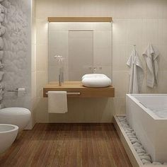 50 awesome natural stone bathroom ideas bathroom design freestanding tub with rocks at base white bathroom bedroom decor styles Zen Bathroom, Bathroom Toilets, Diy Bathroom Decor, Bathroom Interior Design, White Bathroom, Modern Bathroom, Bathroom Ideas, Bathroom Goals, Family Bathroom
