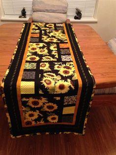 Image result for sunflower quilt table runner