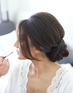 Low Bun Upstyle | Wedding Hair Inspiration | Bridal Musings Wedding Blog 5