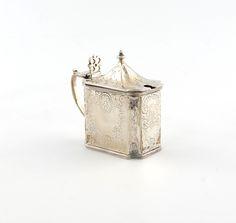 A George II silver mustard pot,by John Delemster, London Wallis, Georgian, Mustard, Pots, London, Silver, Georgian Language, Mustard Plant, Cookware