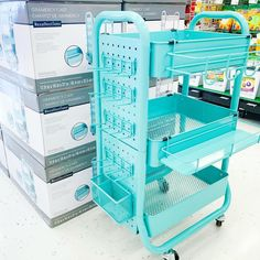 """Kelina on Instagram: """"NO ONE PANIC - Our favorite teacher cart from @michaelsstores has been upgraded! 🙌🏼💙 Do you have one of these carts in your classroom? If so…"""" Classroom Organisation, Teacher Organization, Teacher Hacks, Classroom Management, Organization Ideas, Organizing, Organized Teacher, Storage Ideas, Classroom Setup"""
