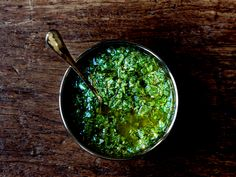 """"""" Italian Salsa Verde    adapted from a recipe to accompany Roast Chicken in chef Jonathan Waxman's cookbook Italian, My Way  {via New York Times} """" from,  thedeliciouslife.com"""