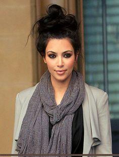 Kim Kardashian. Cute but casual
