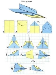 It's hard to think of a more simple and fun toy than a paper plane. It's enough to have a standard sheet of paper to create this monster of aviation. Origami Paper Plane, Origami Airplane, Origami Easy, Recycled Paper Crafts, Paper Crafts For Kids, Best Paper Plane, Pinterest Christmas Crafts, Kites Craft, Paper Aircraft