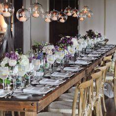 Forks&Brides; — A great way to create a wow factor ! Hanging...
