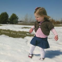CUSTOM Toddler Crochet Shrug Little Girls Bolero by GreenFoxFarms, $25.00