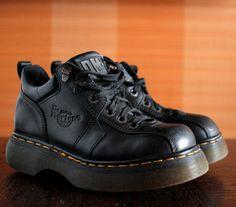 Dr Martens black platform vintage shoes by VintagePlatformDeal Dr Martens  Black 66d579325