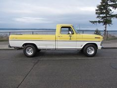Lindsay got to drive our old lake house truck as her first car...1974 Ford pick-up...