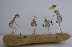 Partie de Pétanque - figurines en ficelle et papier : Accessoires de maison par ficelleetpapier