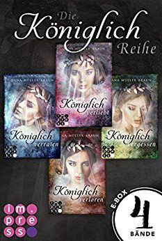 Neuerscheinungen im Juni 2018 #1 - Königlich: Alle vier Bände der romantisch-dystopischen Prinzessinen-Reihe in einer E-Box von Dana Müller-Braun Alle Bände der Reihe in einem Ebook: Königlich: Alle vier Bände der romantisch-dystopischen Prinzessinen-Reihe in einer E-Box von Dana Müller-Braun! Darauf können sich Fans der Autorin im Juni freuen! Weitere großartige Neuerscheinungen findet ihr auf meinem Blog! #buchblogger #bücherwurm #bücherlesen #bücherliebe #Bücherliebhaber#Neuerscheinung