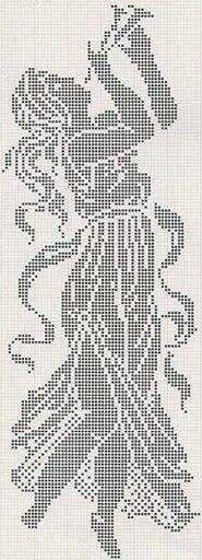 Click through for more charts - isabel cristina lopez marin - Picasa Web Albums Cross Stitching, Cross Stitch Embroidery, Embroidery Patterns, Crochet Patterns, Filet Crochet Charts, Crochet Diagram, Crochet Angels, Crochet Lace, Crochet Crafts