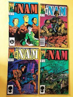 THE NAM Marvel Comic VOl 1 NO 9,10, 11,12 Aug - Nov 1987 Very Good 9 And 10, Marvel Comics, Comic Books, Ebay, Art, Art Background, Kunst, Cartoons, Performing Arts