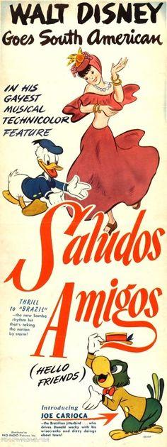 Saludos Amigos. Que buenas eran las animaciones de Disney de antaño. Una aproximación convencional y conservadora al exotiscismo de Sudamérica. Podría pecar de ingenua pero que buena es. Recuerdos gratos de la infancia donde la ingenuidad no era criticable. Lo mejor de todo: Carioca.
