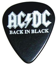 AC/DC Back In Black Logo Guitar Pick #GuitarPicks
