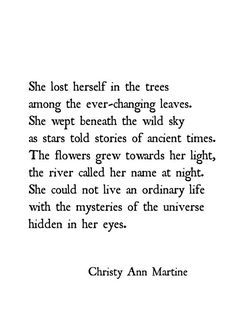 Nature Gift for Daughter Gifts for Friend Boho Decor Nature Poetry Quote Print Wild Sky Poem Print- Boho Decor Prints - Nature Poetry - Quote Prints - Wild Sky Poem She Lost Herself Among the Trees- Peace Quotes, Poem Quotes, Nature Quotes, Life Quotes, Nature Poem, Lost Soul Quotes, Mystic Quotes, Poems On Life, Sky Quotes