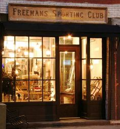 Freemans sporting club NYC. Next time I am in NYC, I have to check this place out. (Note to self- wear tweed).