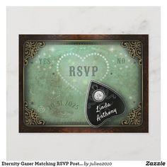 Postcard Art, Postcard Size, Zazzle Invitations, Wedding Invitations, Dark Purple Nails, Dark Flowers, October Wedding, Wedding Rsvp, Response Cards