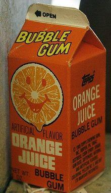 Topps 1980s Orange Juice Gum. I miss this stuff! :(