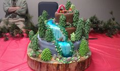 the waterfall forest cake I made last week.