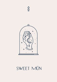 Sweet Mūn Brand Identity by Cocorrina The Effective Pictures We Offer You About name Logo Design A q Corporate Identity Design, Brand Identity, Watercolor Logo, Logo Restaurant, Hotel Logo, Website Design, Web Design, Emblem Logo, Vector Logos