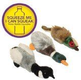 Multi Pet Migrator Mallard Water Bottle 12in Dog Toy Assorted Colors