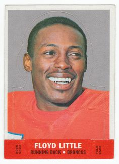 1968 Topps Floyd Little Insert Stand-Up #14, Rookie Year card for this Denver Hall of Famer, NM-, $12