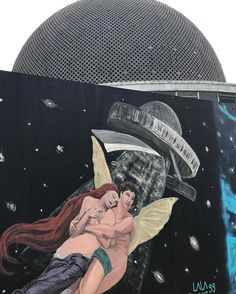 Arte urbano en el Planetario, de Buenos Aires, Argentina