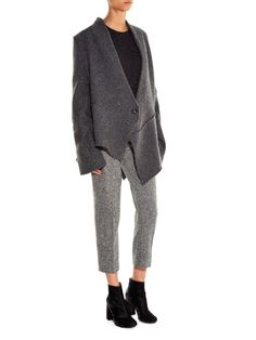 Stella McCartney Octavia slim-leg cropped wool trousers