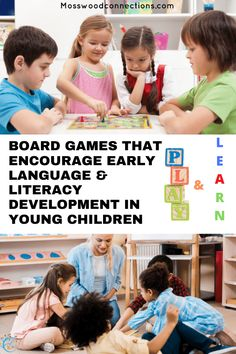 Board Games That Encourage Early Language & Literacy Development in Young Children #mosswoodconnections #education #litracy #boardgames #giftguides Fun Reading Games, Learning Games For Kids, Learning Through Play, Teaching Kids, Activities For Kids, Literacy Games, Literacy Skills, Early Literacy, Parenting Articles