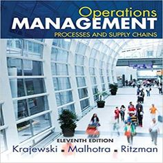 Here are 18 free test bank for operation management operations and solution manual for operations management processes and supply chains 11th edition by krajewski ritzman and malhotra fandeluxe Gallery