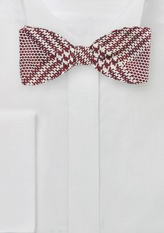 Self Tie Silk Bow Tie with Glen Check Design, $29.90 | Cheap-Neckties.com