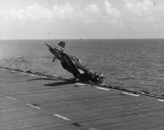 Sometimes carrier landings don't go by the book. F4U Corsair...http://stevemillerinsuranceagency.blogspot.com/
