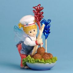 My Little Kitchen Fairies - Fairie Making Meatballs Figurine, perfect timing!