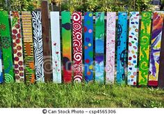 Stock Photo - Colorful wooden fence<< Back to Search Results