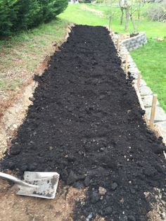 New terrace bed all covered with composted