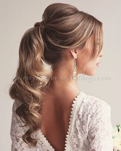 ponytail wedding hairstyles - ponytail wedding hairstyle