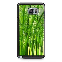 Green Bamboos TATUM-4841 Samsung Phonecase Cover Samsung Galaxy Note 2 Note 3 Note 4 Note 5 Note Edge