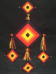 Resultado de imagen para mandalas con palitos de brochet y lana