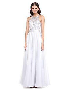 2017 Lanting bride® földig érő csipke / organza elegáns koszorúslány ruha - egy-line ékszer appliques – EUR € 244.90
