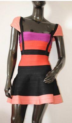 Herve Leger Mulit-Color Bandage Dress (P), $159.99