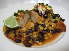 Crock Pot Chicken W/ Black Beans and Cream Cheese...yum! from Food.com:   I love this Crock-Pot chicken recipe for two reasons: one, my family loves it and two, it is so easy to make! I got this recipe from my sister. She has two children of her own, and they love it too! It's also the best leftovers in the world -- if there are any!