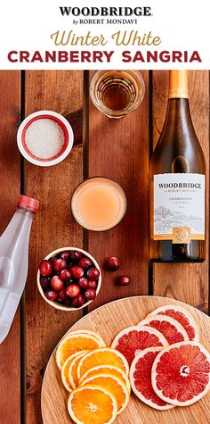 Bring some Christmas cheer to your next holiday party with this festive Winter White Cranberry Sangria from Woodbridge Wines. This easy-to-make sangria needs only a few ingredients including grapefruit, oranges and cranberries for a delicious cocktail the entire party will enjoy! Learn how to make this crafty cocktail today.  Please enjoy our wines responsibly.  � 2016 Woodridge Wines, Acampo, CA