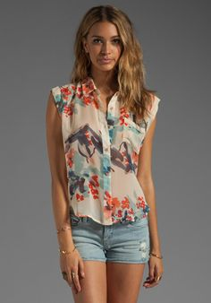 GYPSY 05 Katori Button Up Short Sleeve in Ivory at Revolve Clothing - Free Shipping!