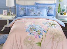 Beautiful Hyacinth #3D Print 4-Piece Cotton Duvet Cover Sets