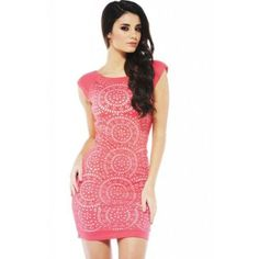 AX Paris Bodycon Laser Cut Front Dress ($39) ❤ liked on Polyvore featuring dresses, orange, form fitting dresses, ax paris, orange cocktail dress, red orange dress and ax paris dresses