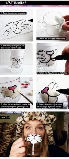 cat tea glass> so making this for... oh you know who you are!