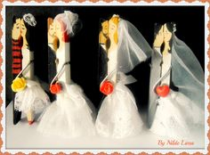Lembrancinha de casamento usando pregador de roupas