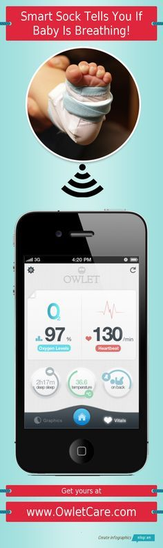 Wow, until SIDS is better understood this is genius. Wirelessly monitor your baby's heart-rate and blood-oxgyen levels.